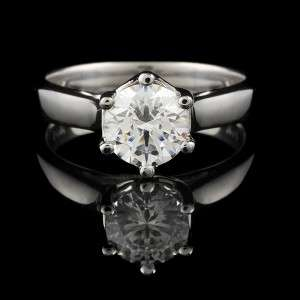 25 CT SI ROUND SHAPE DIAMOND WEDDING RING 14K SOLID WHITE GOLD