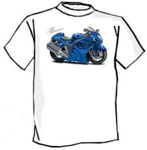 Suzuki Hayabusa Street Bike Cartoon Tshirt FREE