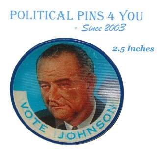 LYNDON B. JOHNSON Campaign Pin Pinback Political Button