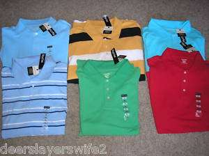NWT ST. JOHNS BAY PENNEYS MENS POLO SHORT SL. SHIRT
