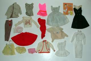 1960s BARBIE CLOTHING ITEMS, VERY SHABBY, BAD CONDITION ASSORTMENT