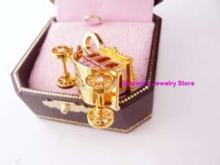 Auth Juicy Couture Pink Princess Carriage Bracelet Charm NEW IN BOX