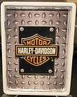 Harley Davidson Cigarette Card Money Tin White Finish Metal Case