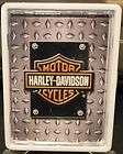 Harley Davidson Cigarette Card Money Tin White Finish Metal Case