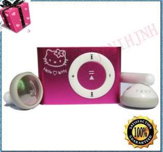 Mini Hello Kitty Clip  Player For 2G 4G Micro SD /TF Card pink