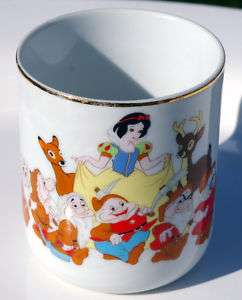 Vintage Walt Disney Snow White 7 Seven Dwarfs Mug Cup