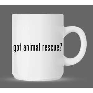 got animal rescue?   Funny Humor Ceramic 11oz Coffee Mug