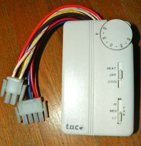 NEW T.A.C. 3  SPEED FAN COIL THERMOSTAT # TA155 010