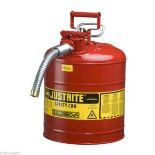 Justrite 5 Gal 19 Liter Type II Red Gas Can With Spout