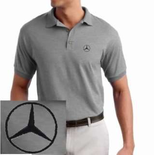 Mercedes Benz Logo EMBROIDERED Sport Gray Polo Shirt