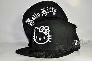 HELLO KITTY OLD ENGLISH NEW ERA 59Fifty Fitted CAP HAT |
