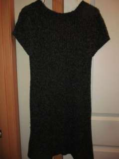 Pink Rose Charcoal Black S/S Sweater Dress Womens XL