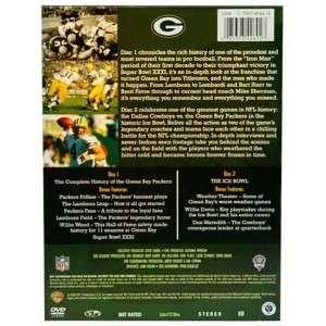 GREEN BAY PACKERS NFL DVD 2 Disc Bonus Complete History