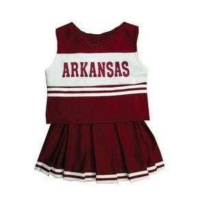 Arkansas Razorbacks NCAA Cheerdreamer Two Piece Uniform (Red 3T)