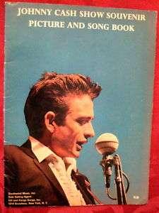JOHNNY CASH SHOW SOUVENIR PICTURE & SONG BOOK 1966