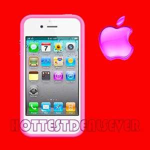 NEW 1 AUTHENTIC Apple iPhone 4 Bumper Case PINK GENUINE