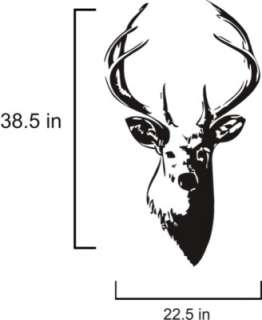 Buck Deer Head Hunting Vinyl Wall Decal *25 Colors*