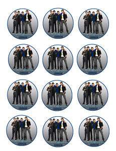 BIG TIME RUSH Edible Party Cupcake Image Topper Favor