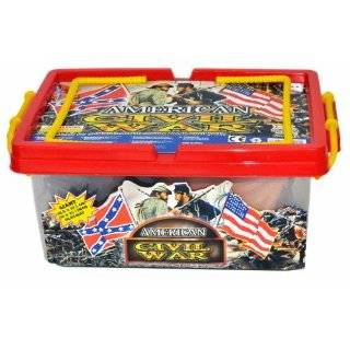 Civil War Army action figure Playset with Over 100 Pieces and Playmat