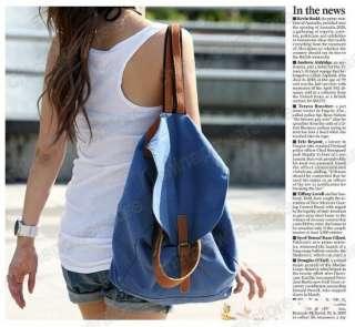 Korean Lady Canvas Hobo handbag backpack satchel shoulder bag