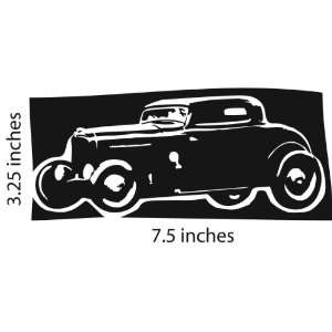 HOT ROD Coupe Sticker Cut Vinyl Decal