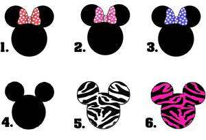 Art Set of 20   Mickey or Minnie Mouse Ears   You Choose the Design