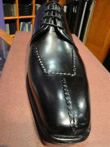 MEZLAN LEATHER DRESS SHOE BLACK LONG SPLIT TOE TIE UP