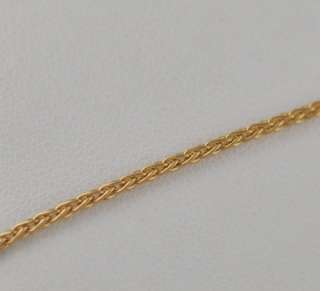 Solid 18kt Gold Champagne Diamond Pendant Necklace