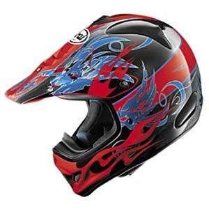 Arai VX Pro III Wing Flame Helmet   X Small/Red