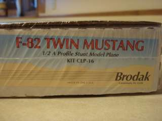 BRODAK * F 82 TWIN MUSTANG* R/C PROFILE MODEL AIRPLANE KIT