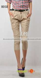 Women Fashion Harem Slim Cropped Trousers Pants New 044