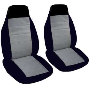 2 black and steel grey seat covers for a 2007 Volkswagen
