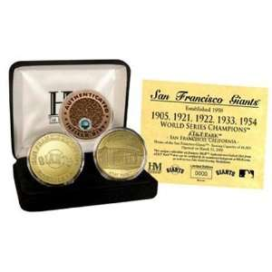 Highland Mint San Francisco Giants 24KT Gold and Infield