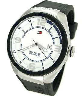 TOMMY HILFIGER DATE SILICONE STRAP MENS WATCH 1790806
