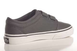 VANS KIDS YOUTH 106 V VULCANIZED VELCRO DARK SHADOW GREY SKATE SHOES