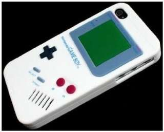 New Nintendo Game Boy Soft cover Case for Apple iPhone 4 4G White
