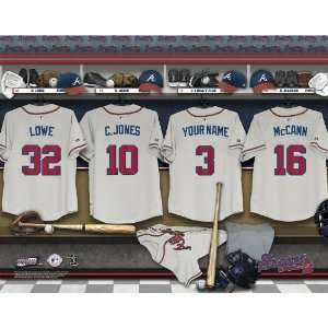 Personalized Atlanta Braves Locker Room Print Sports