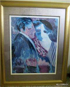 BARBARA A WOOD SIGNED PRINT LOVE IN BLOOM 470/975