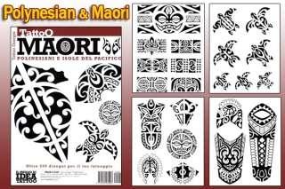 Tattoo Design POLYNESIAN MAORI Flash Art Book 66 Pages
