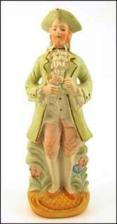 LARGE Vintage OCCUPIED Japan COLONIAL Man BISQUE Porcelain FIGURINE