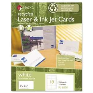 Maco RL8550   Recycled Laser/Inkjet Business Cards, White