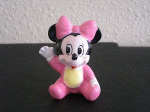 Vintage Disney Minnie Mouse Baby Pink Figurine