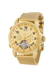 USED MENS AUTOMATIC GOLD PLATED STAINLESS STEEL WRIST WATCH G ThosGGG