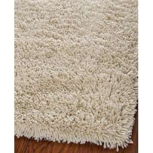 SG240V Shag Collection 7 Feet Classic Handmade Square Area Rug, Ivory