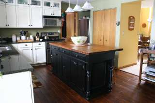 ft Solid Wood Kitchen Island Carved Corbel
