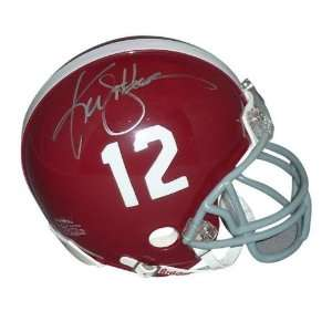 Autographed Ken Stabler Mini Helmet   Alabama Crimson Tide