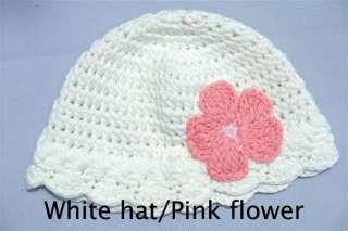 Cute Gorgeous Baby/Newborn Flower Crochet Hat/Beanie