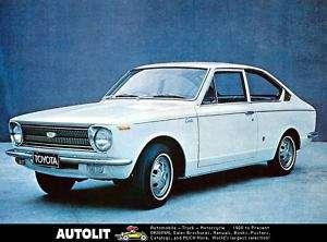 1969 Toyota Corolla 1100 Sprinter Factory Photo