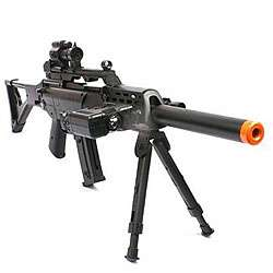 Sniper Rifle FPS 220 Bipod Scope Silencer Airsoft Gun