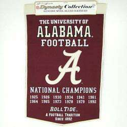 Alabama Crimson Tide Football Championship Banner